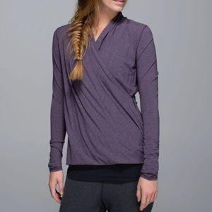 Lululemon 6 Radiant Wrap L/S Shirt Purple Fog Top